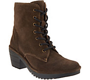 FLY London Suede Lace-up Mid Boots - Woke - A342573