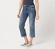 LOGO by Lori Goldstein 5-Pocket Crop Straight Leg Jean w/ Hem - A347473