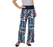 Women with Control Tall Tummy Control Printed Palazzo Pants - A275074