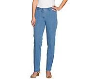 Isaac Mizrahi Live! Regular 24/7 Denim Straight Leg Jeans - A275474