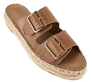 LOGO by Lori Goldstein Double Buckle Espadrille Sandals - A277074
