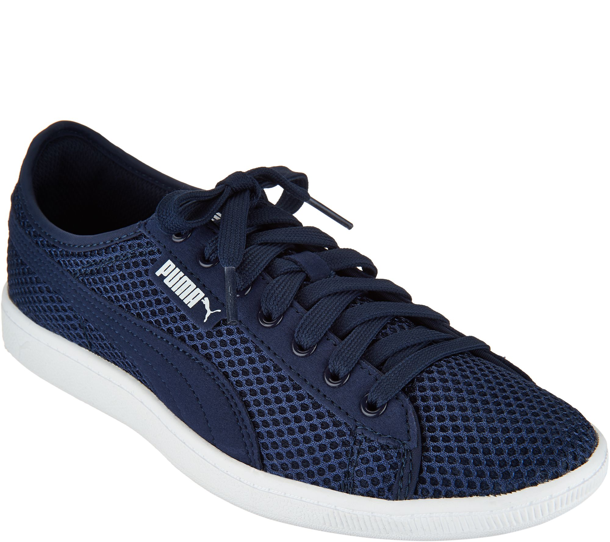 4ac84719f4be PUMA Mesh Lace-up Sneakers - Vikky Mesh - Page 1 — QVC.com