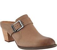 Vionic Leather Heeled Mules - Cheyenne - A293774