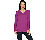 H by Halston French Terry and Sweater Knit Mix Pullover - A294974