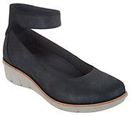 Dansko Leather Slip-on Shoes w/ Ankle Strap - Jenna - A296874