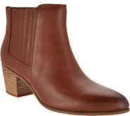 Clarks Leather Side Zip Ankle Boots - Maypearl Tusla - A297174