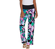Women with Control Tall Como Jersey Tummy Control Printed Pants - A306474