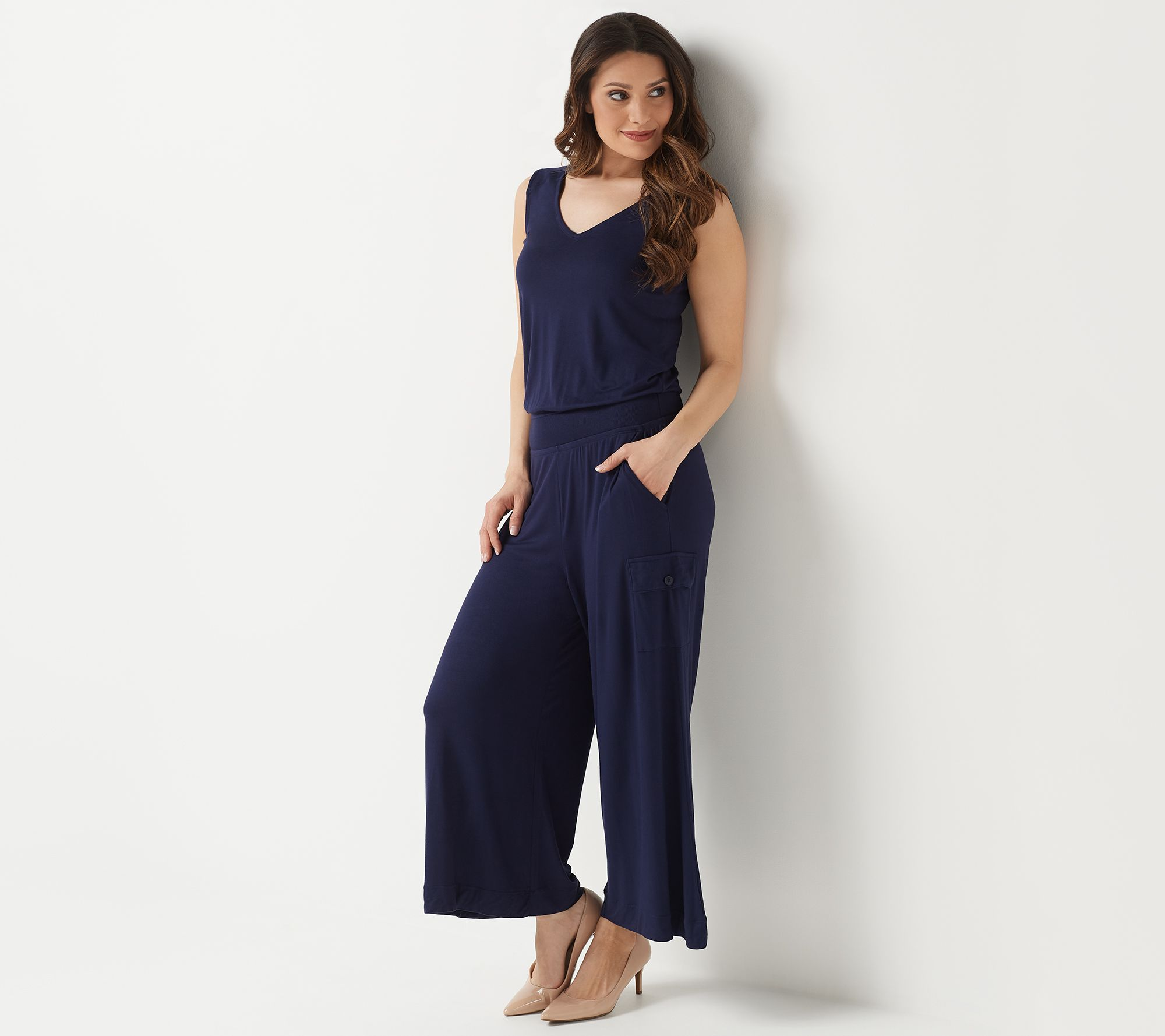 418aefd2e843ce Lisa Rinna Collection Jumpsuit - Page 1 — QVC.com