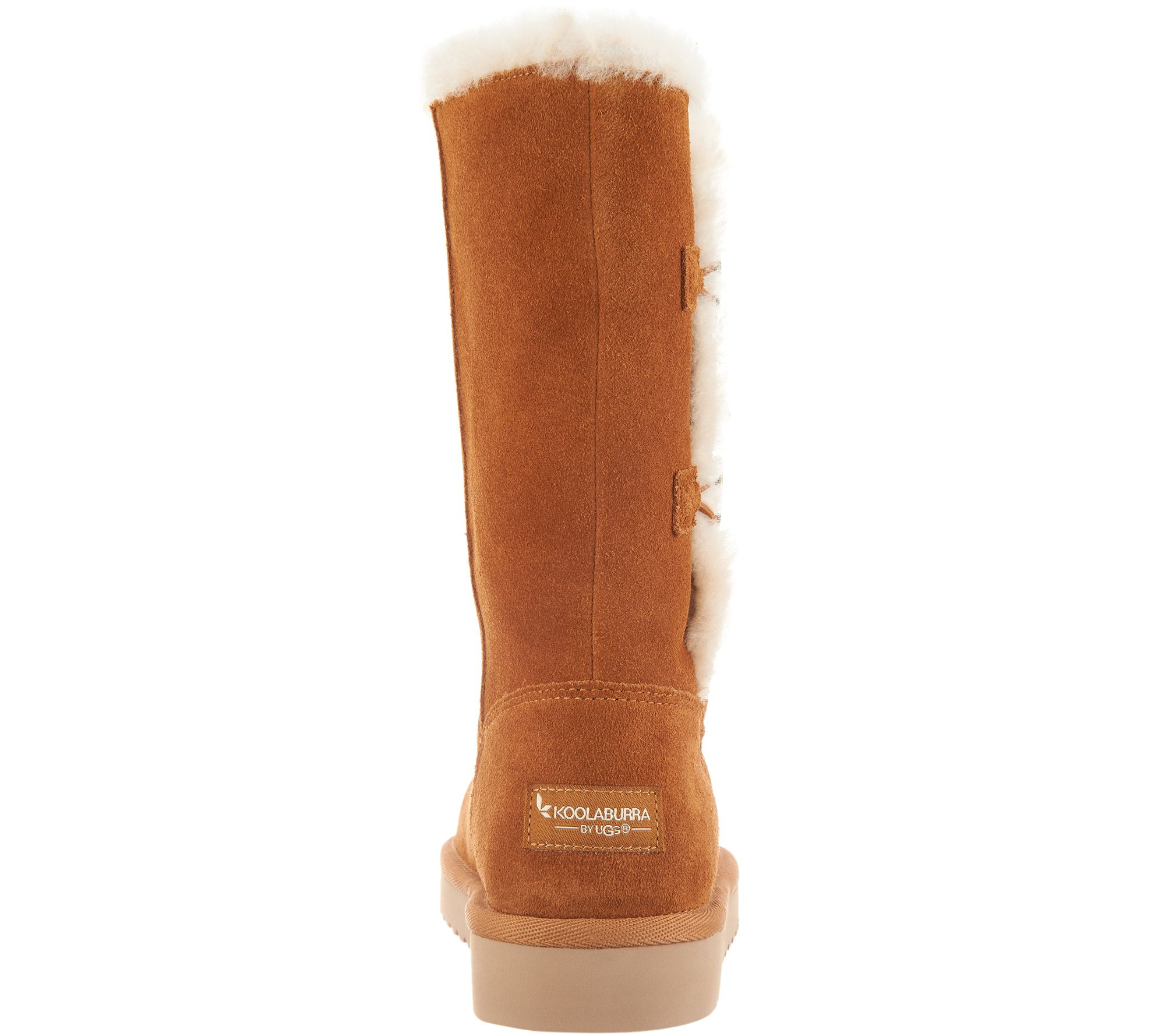 10a2d63a3ad Koolaburra by UGG Suede Button Tall Boots - Kinslei — QVC.com