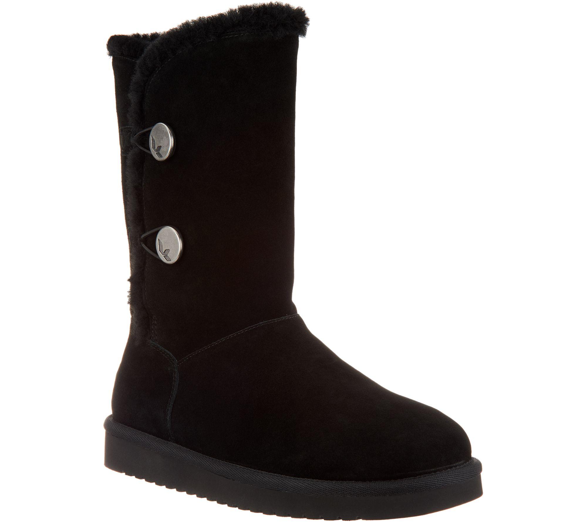 04eeda3478e Koolaburra by UGG Suede Button Tall Boots - Kinslei - Page 1 — QVC.com