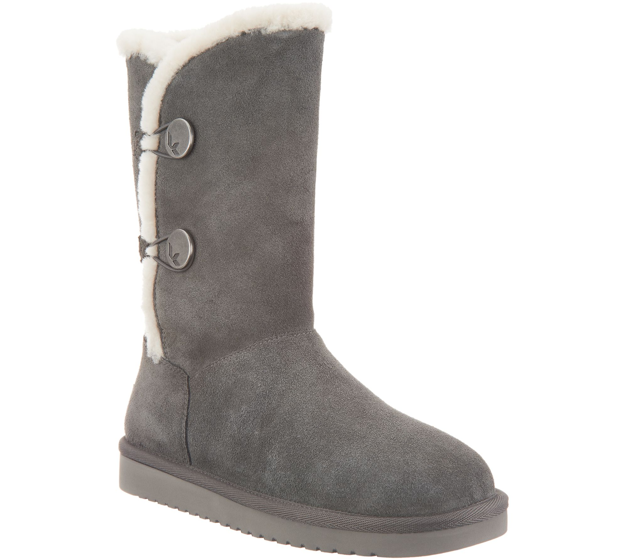 6d6ee07160 Koolaburra by UGG Suede Button Tall Boots - Kinslei - Page 1 — QVC.com