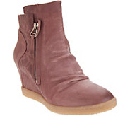 Miz Mooz Leather Wedge Ankle Boots - Alexandra - A342074