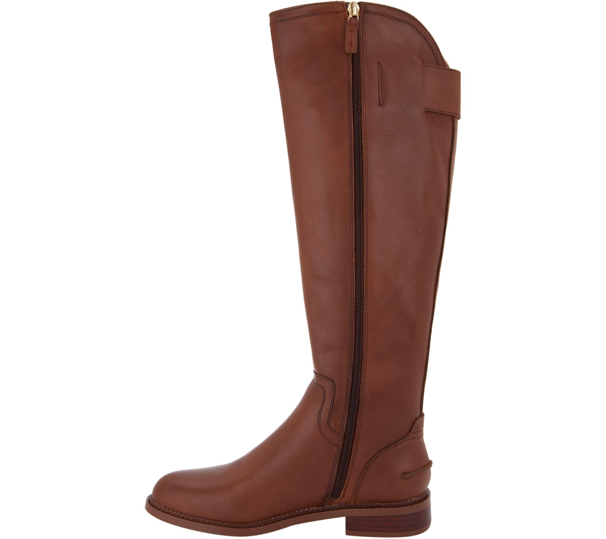 770e6054410 Franco Sarto Leather Wide Calf Tall Boots - Henrietta — QVC.com
