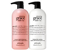 philosophy super-size grace & roses shower gel & body lotion duo - A350474