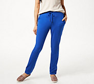 Denim & Co. Active French Terry Full Length Pant w Pockets - A351574