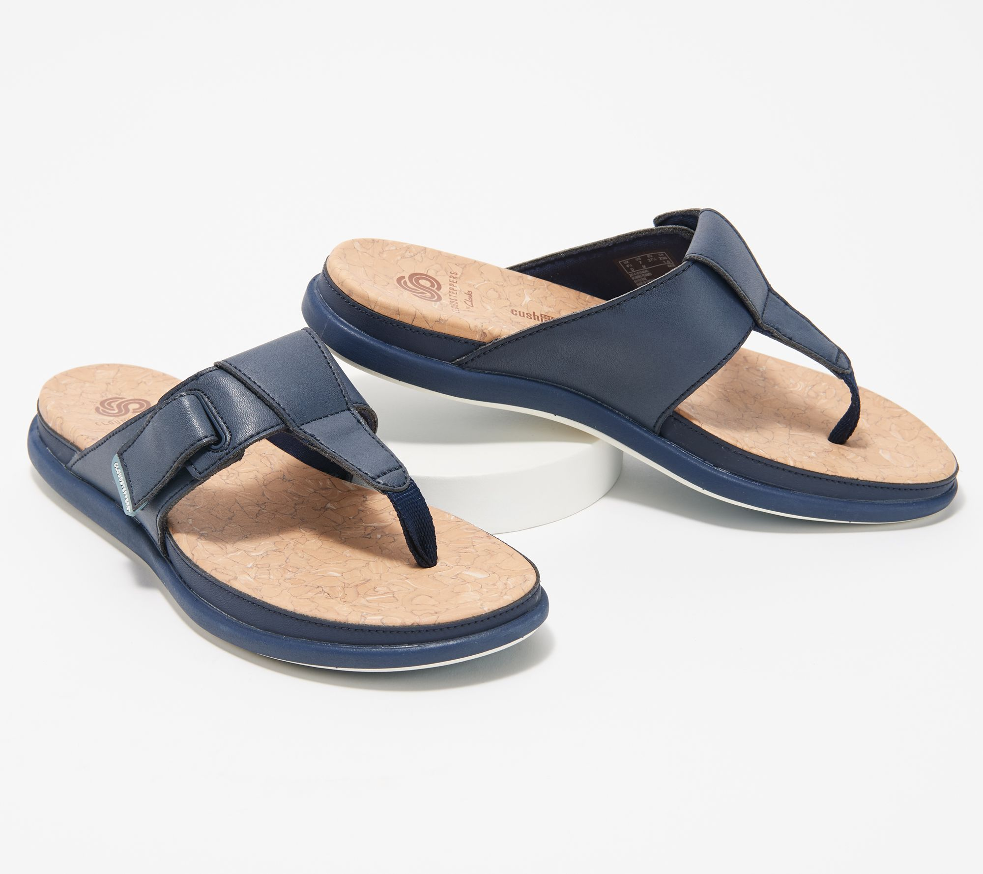 dfe6d530189 CLOUDSTEPPERS by Clarks Thong Sandals - Step June Reef - Page 1 — QVC.com
