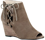 Sole Society Lace-Up Wedge Booties  - Bobbi - A357574