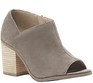 Sole Society Peep Toe Leather Booties - Arroyo - A361174