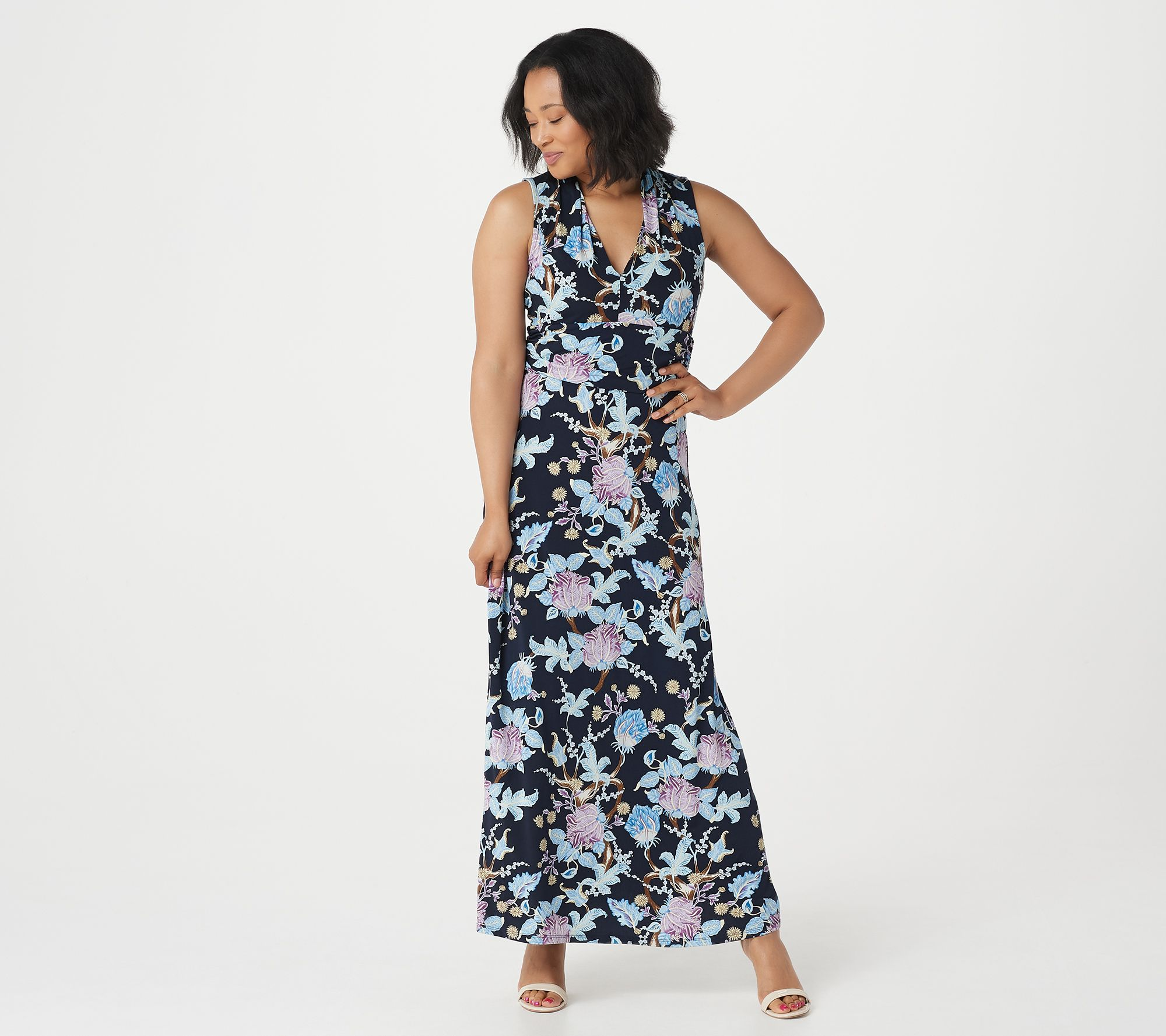 430cf3179fd6 Vince Camuto Poetic Blooms Halter Maxi Dress - Page 1 — QVC.com