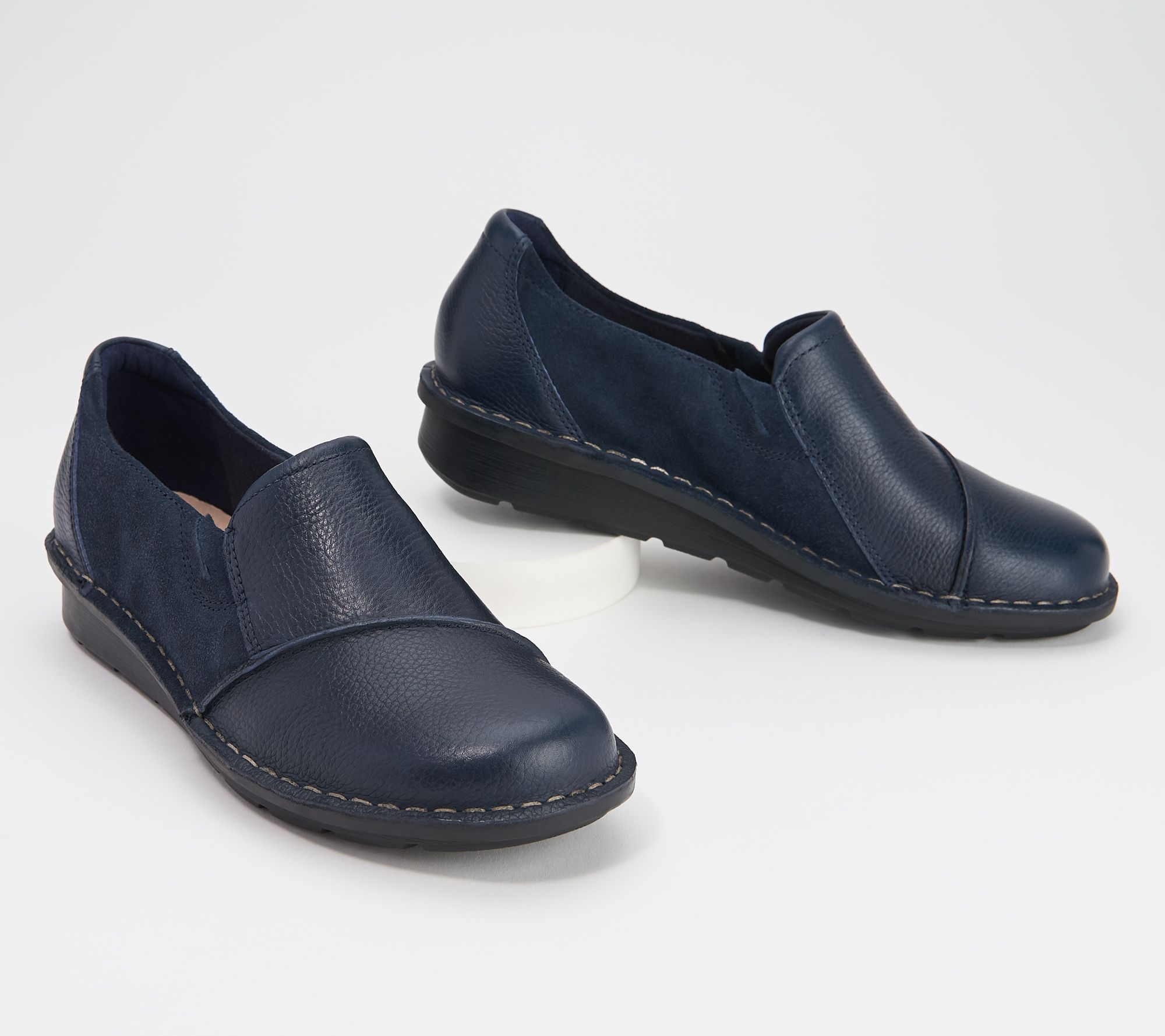 Comfort Plus Michaela Slip On Orthopaedic Soft Leather Casual Wide Fit Shoes