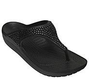 Crocs Embellished Flip Sandals - Sloane - A412374