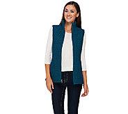 Susan Graver Zip Front Textured Vest w/ Pockets - A268575