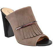 G.I.L.I Kilted Leather Mules - Pressley - A269775