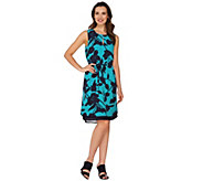 Kelly by Clinton Kelly Double Layer Dress with Belt - A278475