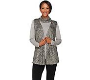 Susan Graver Sweater Knit Vest with Liquid Knit Tunic Set - A278875