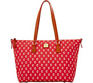 Dooney & Bourke MLB Indians Zip Top Shopper - A280075