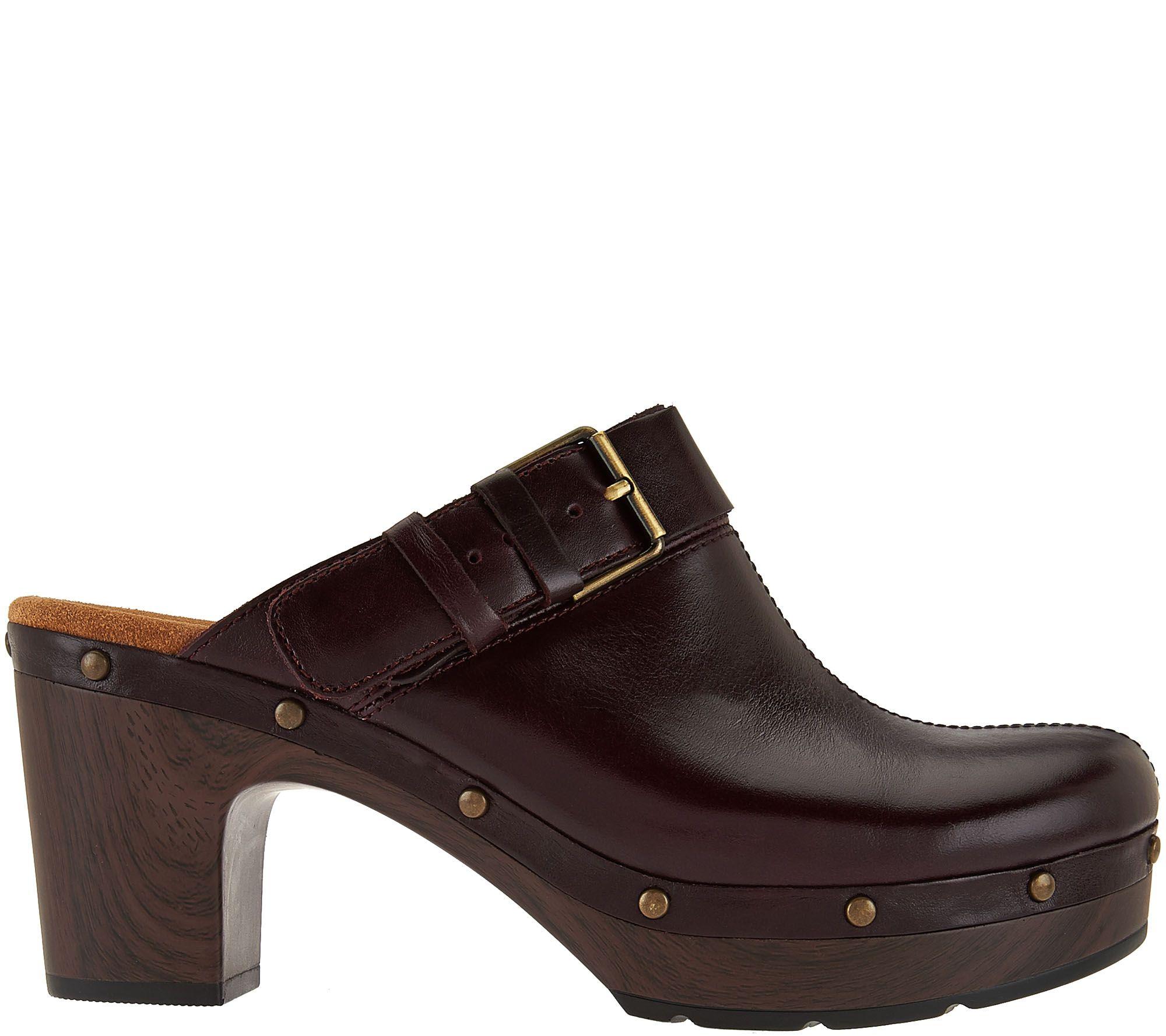 3b72aad1140c Clarks Artisan Block Heel Clogs - Ledella York - Page 1 — QVC.com