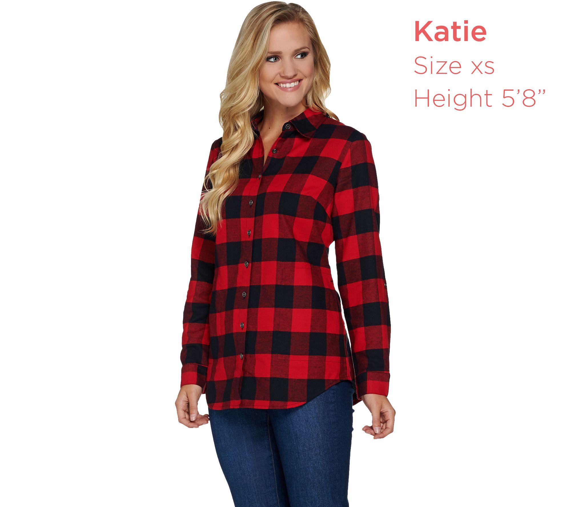 c7cb9e46c13 Womens Red And Black Plaid Shirt - ShopStyle