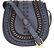 Aimee Kestenberg Pebble Leather Large Saddle Crossbody - A285975