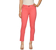 Peace Love World Peached Sateen 5-Pocket Slim Leg Jeans - A288575