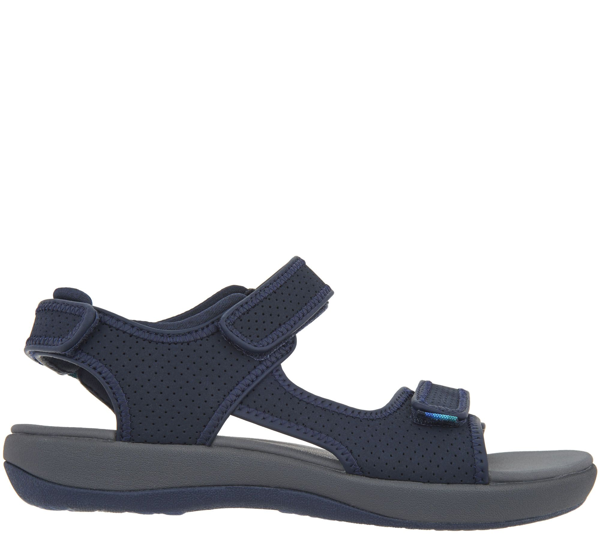 cf1283bd76f2 CLOUDSTEPPERS by Clarks Adjustable Sport Sandals - Brizo Sammie - Page 1 —  QVC.com