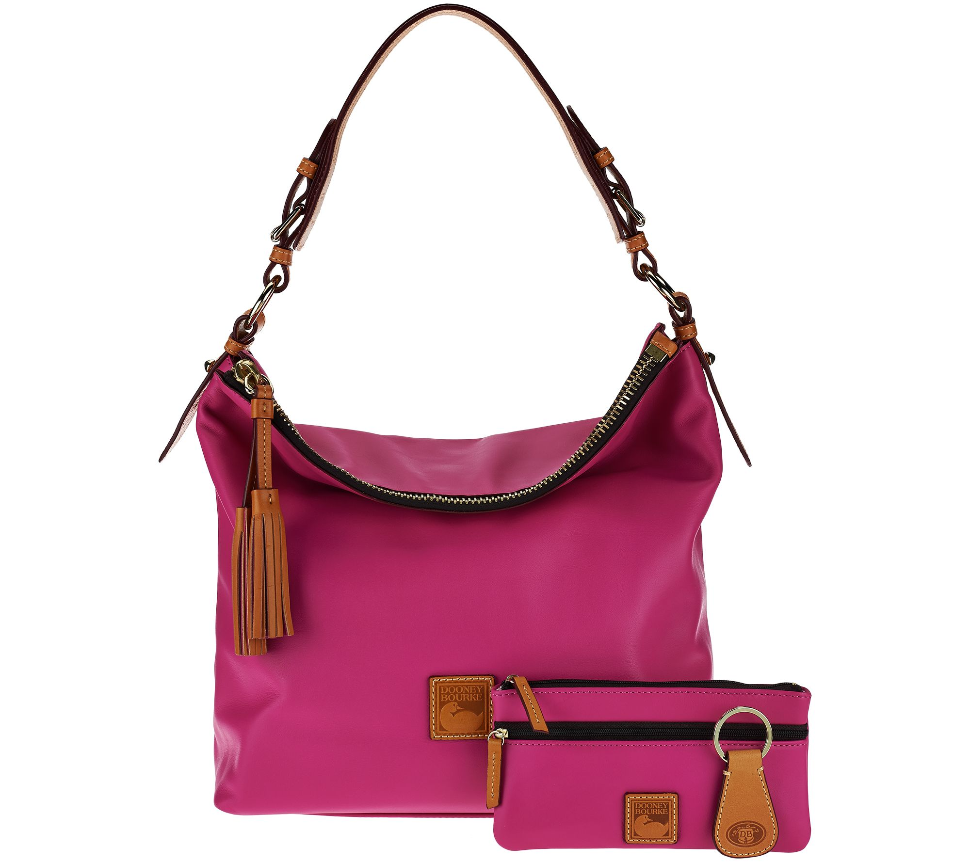 As Is Dooney Bourke Smooth Leather Hobo Page 1 Qvc