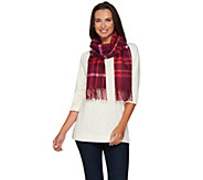 As Is Isaac Mizrahi Live! 2-Ply Cashmere Woven Plaid Scarf - A295375