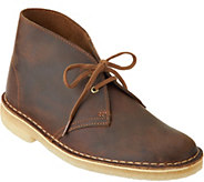Clarks Artisan Leather Lace-up Desert Boots - A297175