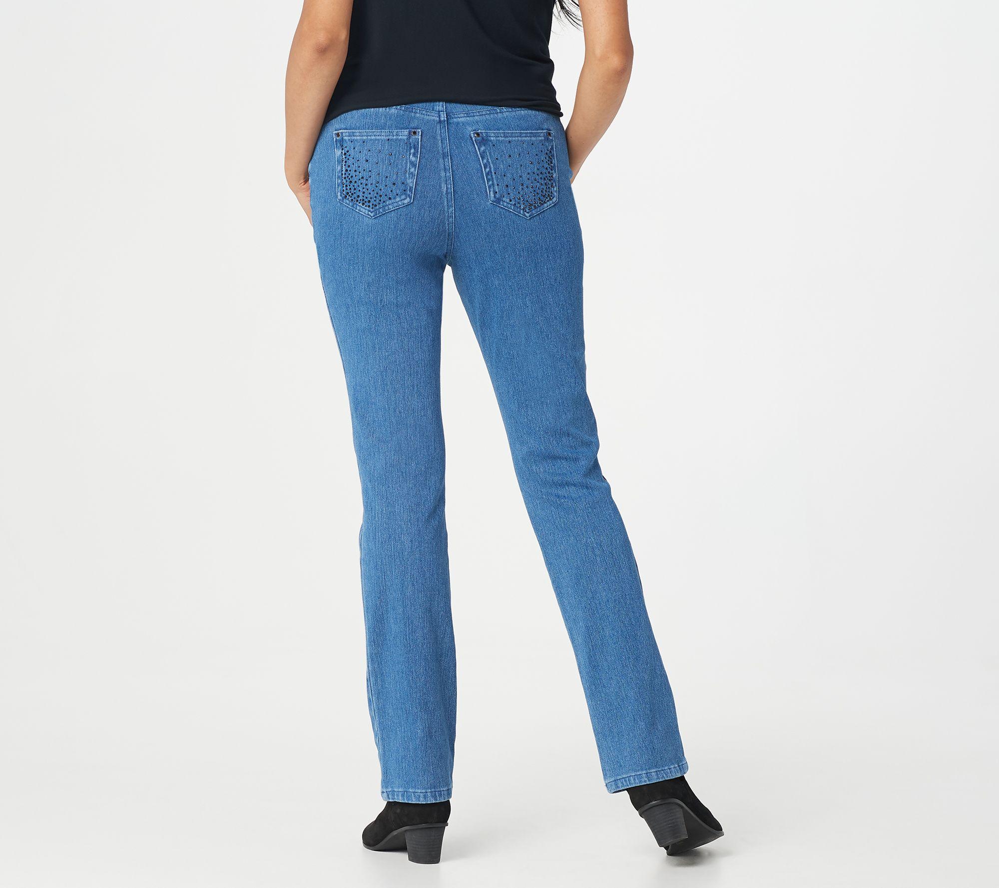 Belle From Kim Gravel Flexibelle Pull On Crop Jeans 18p Pants
