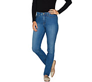 As Is Studio by Denim & Co. Petite Classic Denim Straight Leg Jeans - A305775