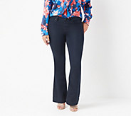 Laurie Felt Petite Silky Denim Pull-On Flare Jeans - A309675