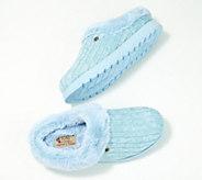 Skechers Sweater Knit Faux Fur Slippers - Ice Angel - A309875