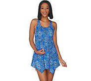 As Is Denim & Co. Beach Handkerchief Hem Swim Dress - A343375