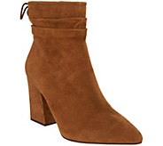 Vince Camuto Suede Block Heeled Ankle Boots - Salali - A343475