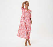 Stan Herman Stamped Floral Cotton Gown - A346775