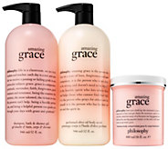 philosophy with grace & love we glow super-size fragrance set - A351475