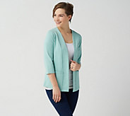 Denim & Co. Essentials Perfect Jersey 3/4-Sleeve Cardigan - A351575