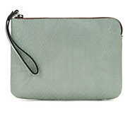 Patricia Nash Leather Embossed Woven Wristlet - Cassini - A352175