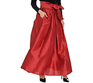 As Is Joan Rivers Regular Length Faux Dupioni Maxi Skirt - A366875