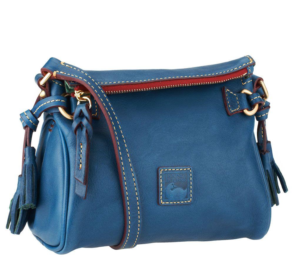 e49c97b1db3 Dooney   Bourke Florentine Leather Mini Zip Crossbody - Page 1 — QVC.com